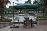 Strand-beiläufiger Farbton des im Freien seitlichen Faser-Glas-Regenschirmes