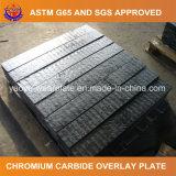 Plaque d'usure de carbure de chrome de soudure pour le broyeur