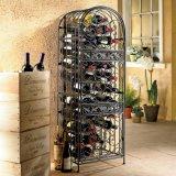 Support de large volume d'étalage de vin en métal pour la barre