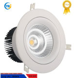 Alta calidad para interiores fábrica COB 6W/40W Epistar LED Downlight montado