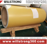 En aluminium à revêtement de couleur de la bobine avec motif en bois
