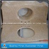 Partie supérieure du comptoir de granit de la pierre G682/dessus jaunes de vanité pour la salle de bains et la cuisine