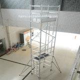 중국 공급자 경량 알루미늄 이동할 수 있는 층계 비계는 전망을 분해한다
