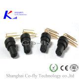 90 정도 5 Pin 남성 플랜지 PCB M12에 의하여 주조되는 접합기 연결관