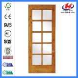 Porte en verre en bois solide en gros de luxe (JHK-FD06X)