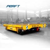 La transferencia de Vehículo plano almacén ferroviario pesado carro de carga