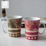 Taza de café de la porcelana de la dimensión de una variable 11oz Liling de Evase con el diseño o la carrocería blanca del cliente
