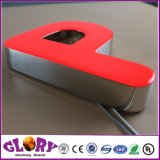 Sinal da letra de canaleta do diodo emissor de luz da resina acrílica e Epoxy