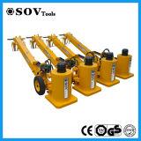 Elevación gato hidráulica móvil integrada para el mantenimiento locomotor