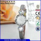 Orologi casuali di marchio del quarzo delle signore su ordinazione della vigilanza (WY-077B)