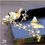 Ретро стиле барокко невесты Tiara Diamond рельефная ручной работы свадебные короны ювелирный кристалл Короны (EC01)