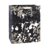 Schwarzweiss-Blumen-Form-Kleidung bereift Geschenk-Papierbeutel