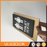 Signage acrylique de pièce de lavage de la vente 2017 chaude pour le marché