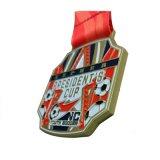 Le soccer Métal Métal médailles sportives avec cordon et le logo du client