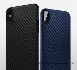 Корпус из углеродного волокна TPU плоская крышка телефона для iPhone X