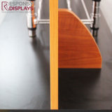 Estante de visualización derecho del vino del suelo del metal y de madera con el LCD