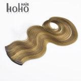 最もよい品質の組合せカラーボディ波の拡張の手によって結ばれる人間の毛髪クリップ