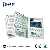 Brochure multifonctionnelle d'impression de 4.3 de pouce TFT de couleur Digitals de vidéo pour des affaires