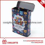 최신 판매 관례에 의하여 인쇄되는 장방형 금속 담배 주석 상자