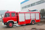 Dongfeng 6の車輪7cbm水タンカー2のCBMの泡のタンカーの消防車のトラック