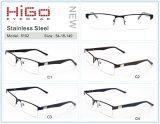 Optische de Bril van de Glazen van de Halve van de Rand van het Metaal van de ontwerper van de Oogglazen Mensen van het Frame