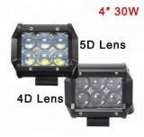 4D 5D Phares de travail à LED 4 pouces de lumière LED CREE 30W Bar tracteur ATV Chariot de feu de brouillard de conduite de Moto 12V 4X4 LED Bar Offroad