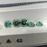 1 Carat Gemstone Moissanite Emerald cortes redondos Moissante Diamond para Anel O