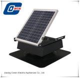 25 watts de 9 polegada Fade, ventilador de teto solar com painel solar e pilha no interior
