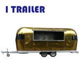 Aluminio comercial Hot Dog carro con el equipamiento de cocina