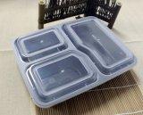 Recipiente de alimentos 3 compartimentos de PP Lunch Box