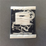 Custom borde suave de alta densidad de las prendas de vestir tejidas etiquetas tejidas etiquetas de nombre
