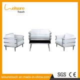 Luxuxform-Garten-im Freienmöbel-hölzernes Tuch-Kunst-Sofa-Plastikset