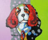ハンドメイドの現代絵画壁の装飾のためのおかしい犬のナイフのキャンバスの絵画
