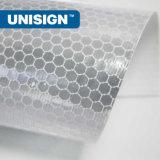 PVC蜜蜂の巣300*500d、18*12、440GSMが付いている反射旗ロール