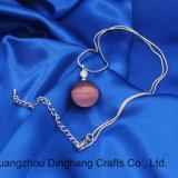 Halsband van de Parel van het Bergkristal van de Ketting van de Slang van de Kleur van de Juwelen van de manier de Zilveren Fijne Purpere Opalen voor de Juwelen van Vrouwen