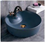 Loiça sanitária Matt Cor Preta Ceramic pia do banheiro (C1270B)