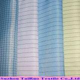 100% polyester antistatique ESD tissus pour vêtements de travail fonctionnel pour salle blanche