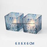 Europäisches Quadrat gedruckte Glaskerze-Halter
