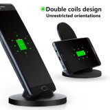 Qi 2018 Almohadilla de carga celular mini cargador inalámbrico para el iPhone 7 7plus 4 5 5 6