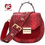 Saco em pele genuína clássico Senhoras Crossbody Bag Bolsa de designer