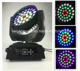 リングの円制御LED移動ヘッド洗浄ズームレンズRGBWA紫外線36X18W LEDのズームレンズの移動ヘッドライト