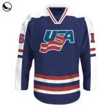 Abbigliamento Sportivo 100% Poliestere Sublimazione Hockey Su Ghiaccio Personalizzato Pratica Jersey