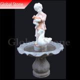 Garçon statue en marbre pierre Fontaine à eau (GSF-161)
