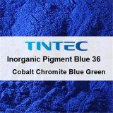 Pigmento azul inorgánico 36 (de plástico azul cobalto de cromita verde).