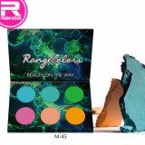 Die angepasste Farben-Pappaugenschminke-Palette des Großverkauf-6 färbt Mattfarben-Augenschminke-Palette