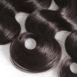10Uma onda de Corpo Brasileiro 100% virgem trama de cabelo preto natural por grosso