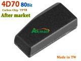 4D70 80bit Carro automático de carbono chave transponder TP19