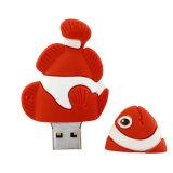Смешной клоун рыб и USB флэш-памяти привода ручки привода