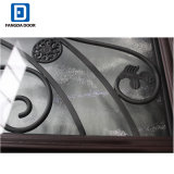 В полной мере Lite декоративные стеклянные окрашенные стекловолоконные Prehung двойной записи двери
