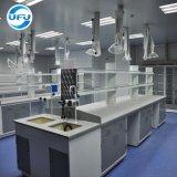 試薬の棚および流しが付いているAll-Steel実験室の中央仕事台